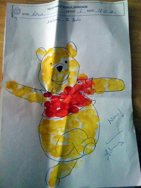 Drew a Teddy at school